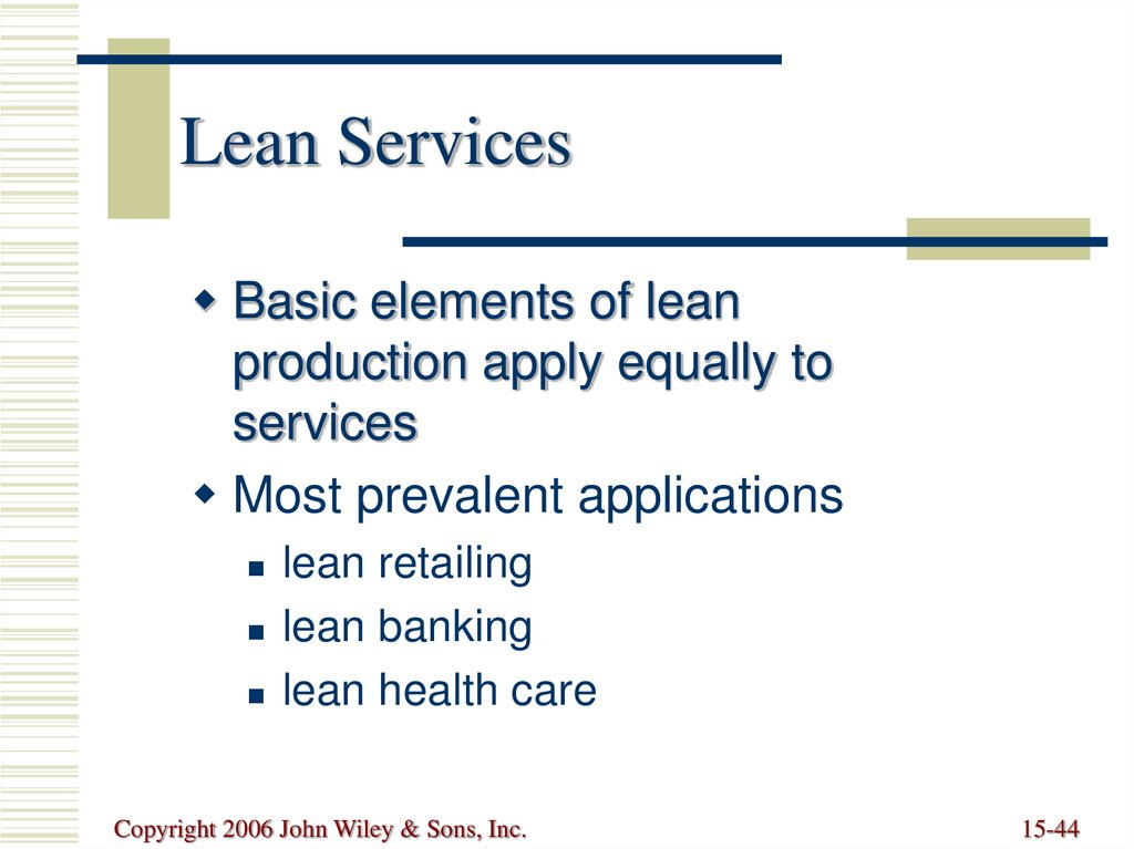 Basic Elements Of Lean Production Benefits Of Lean