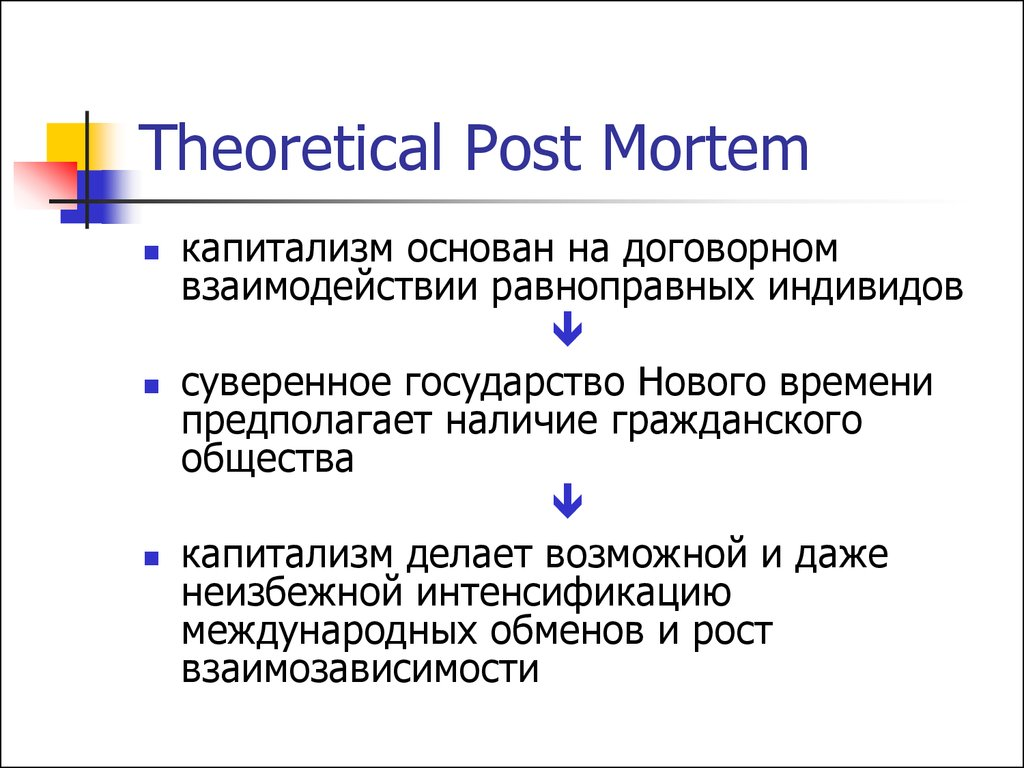 Theoretical Post Mortem