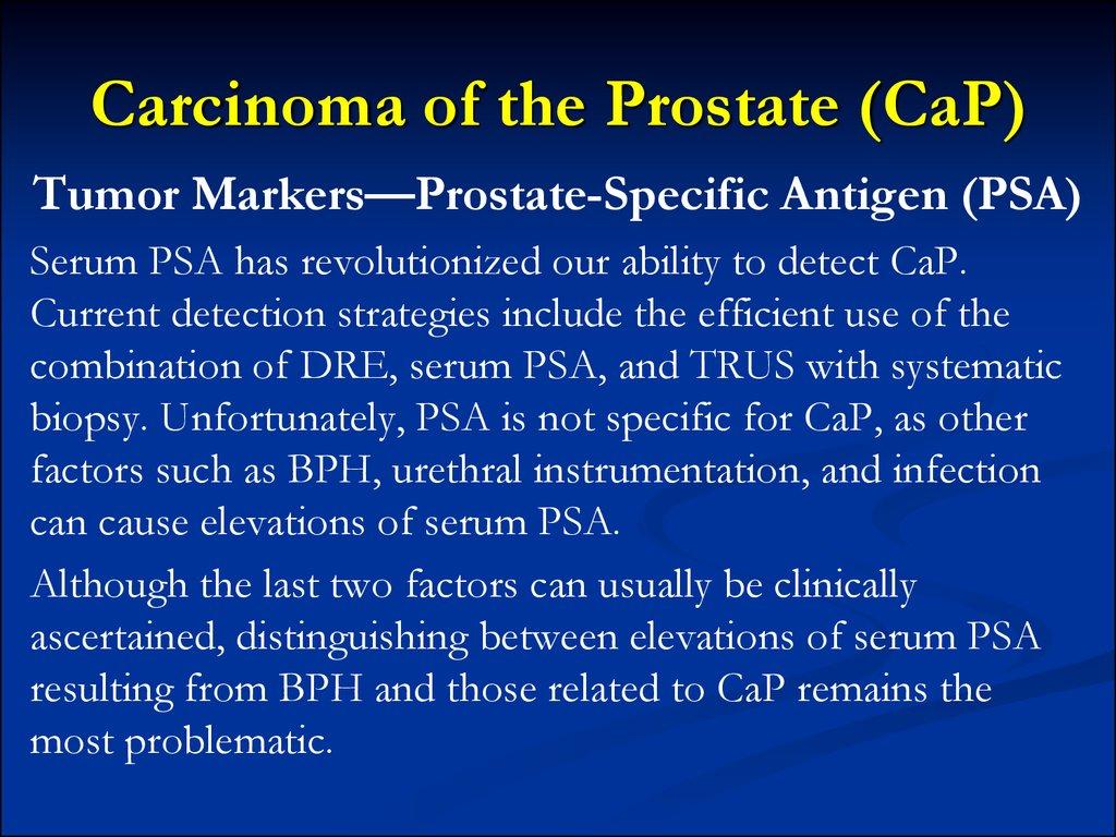 Carcinoma of the Prostate (CaP)