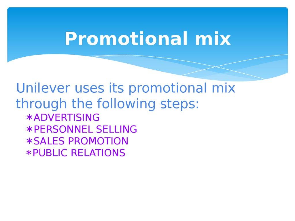unilever marketing aspects