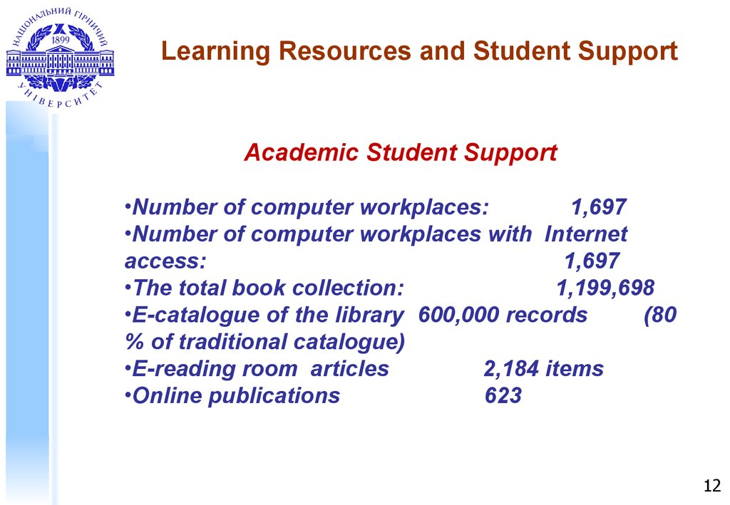 Learning Resources and Student Support