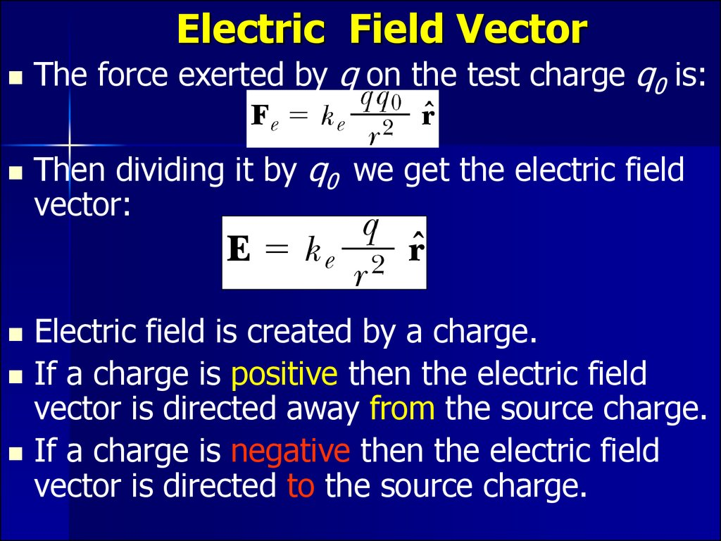 Electric Field Vector
