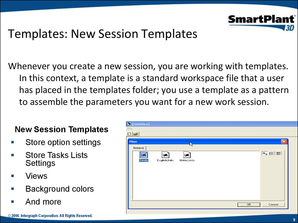 Templates: New Session Templates