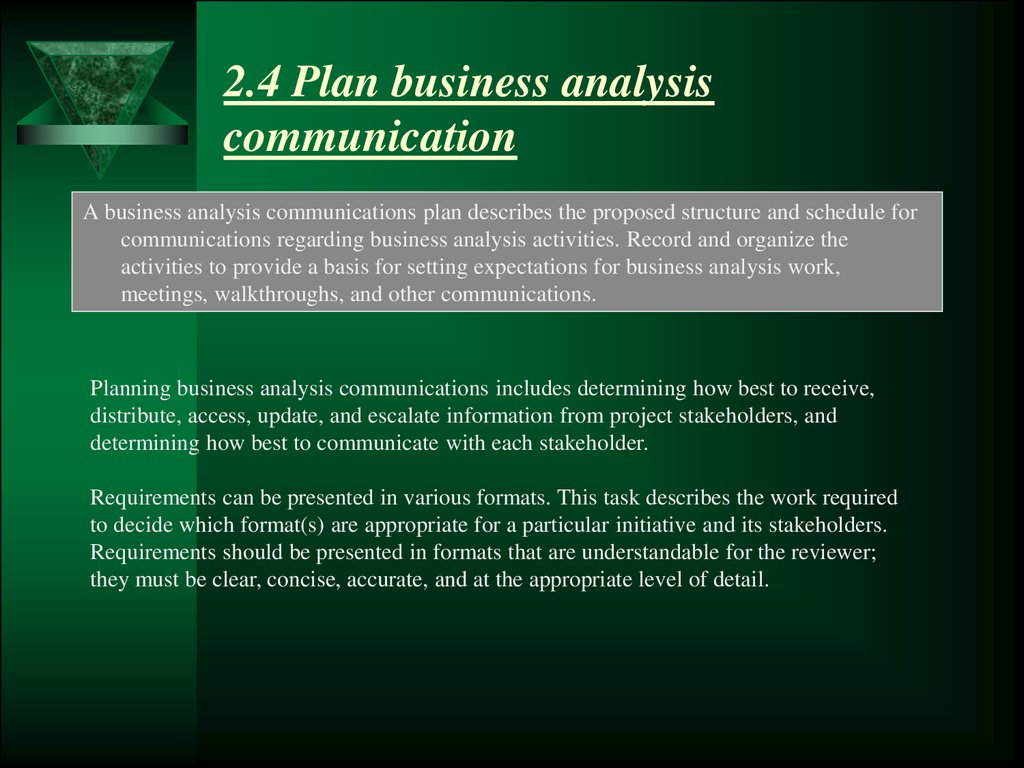 The business analysis planning and monitoring hapter 2 24 plan business analysis communication wajeb Gallery