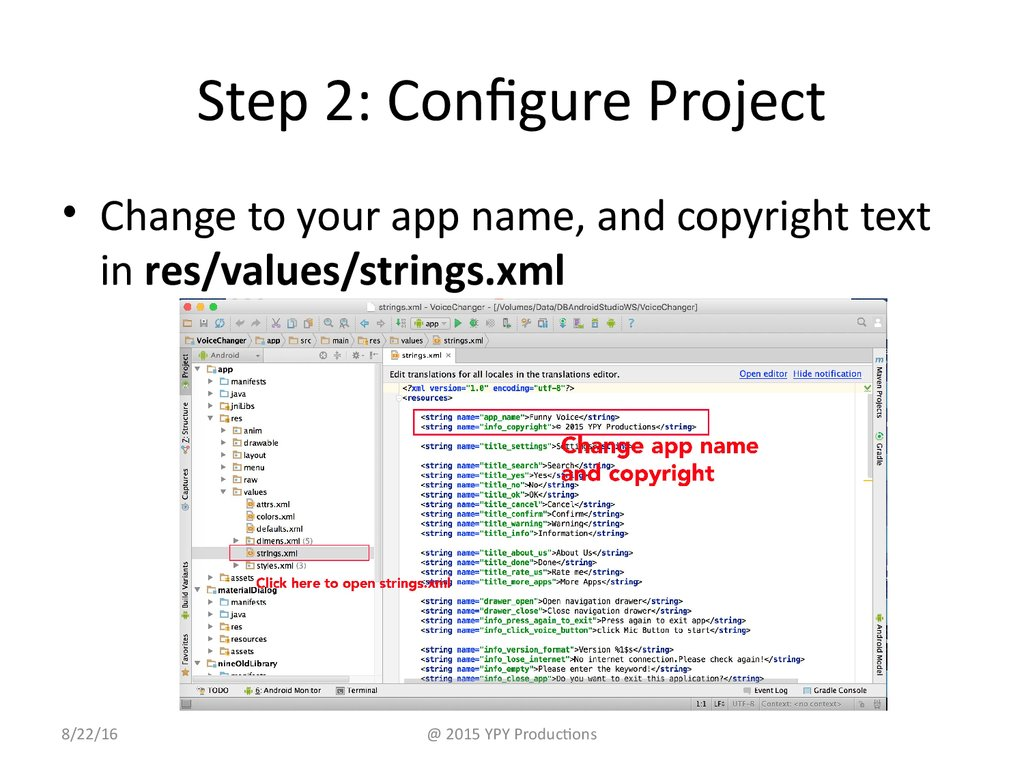 Step 2: Configure Project