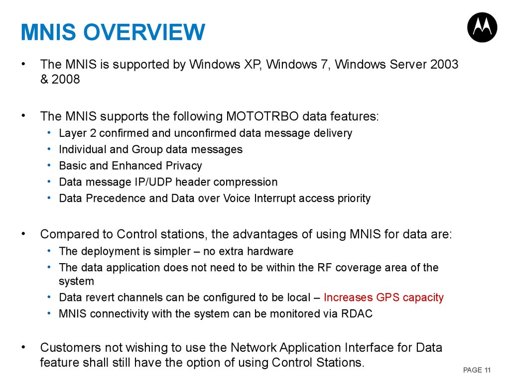 MNIS OVERVIEW