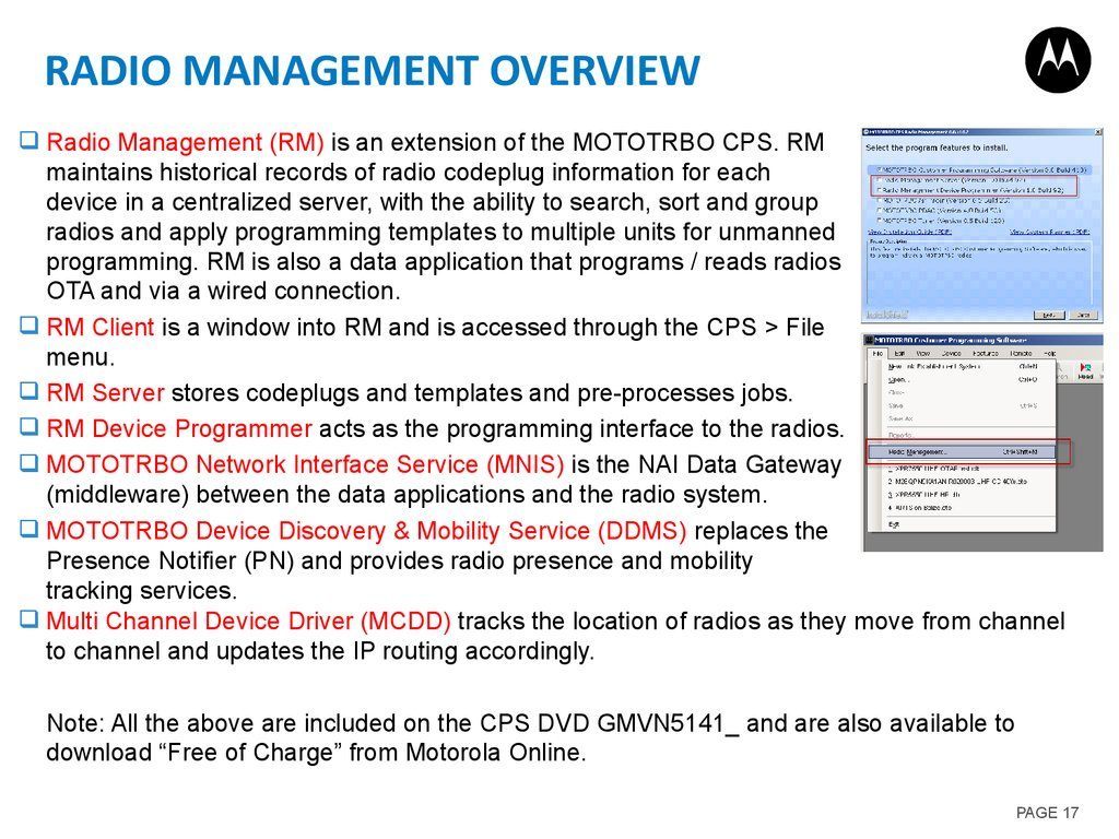 Radio Management Overview
