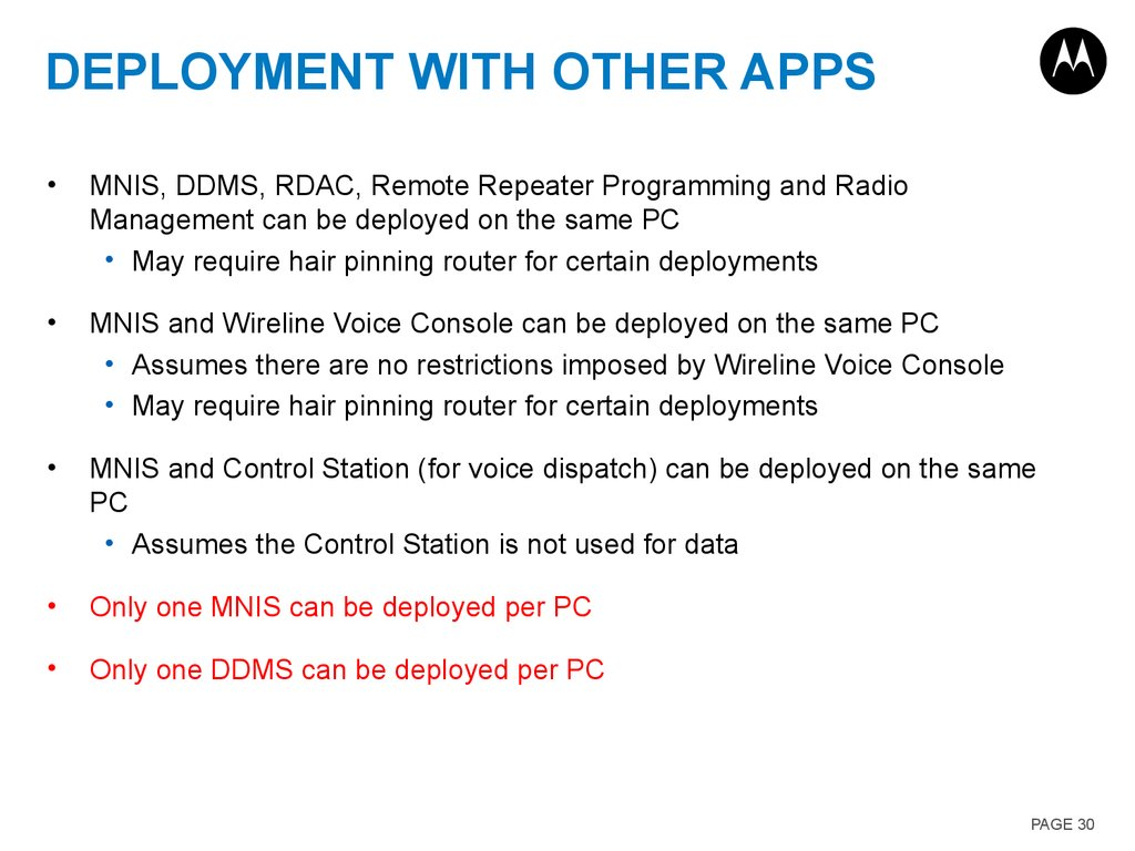 Deployment with other Apps