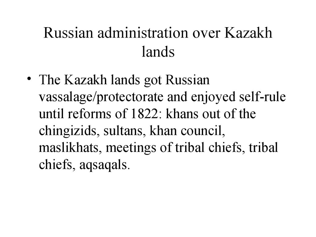 Russian administration over Kazakh lands