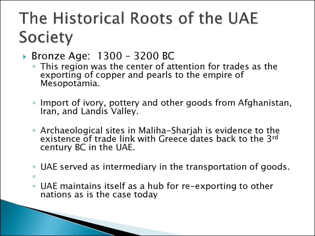 The Historical Roots of the UAE Society