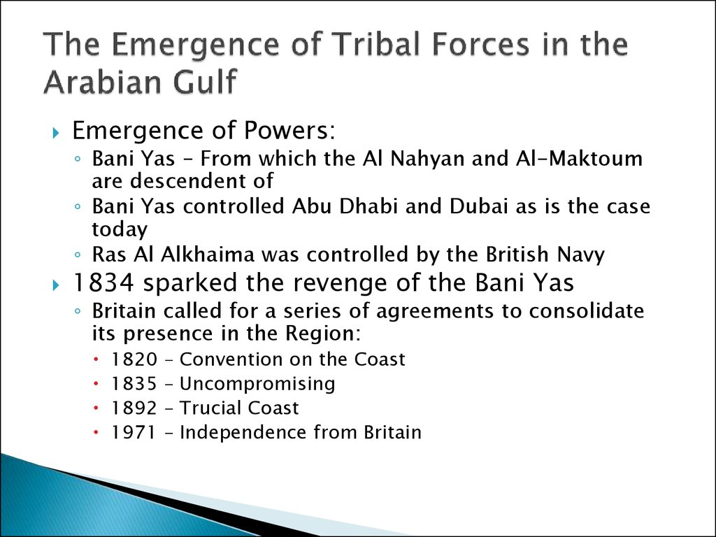 The Emergence of Tribal Forces in the Arabian Gulf