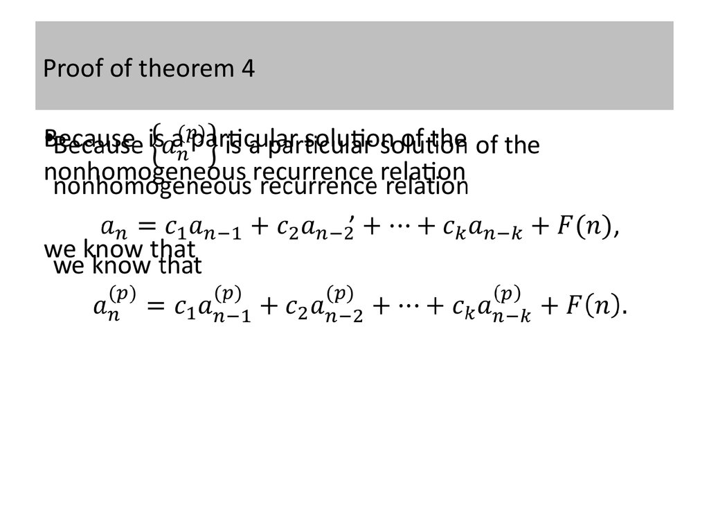 Proof of theorem 4