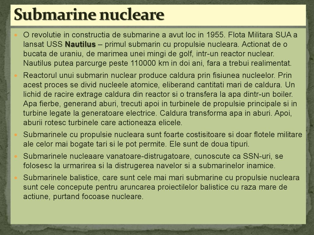 Submarine nucleare