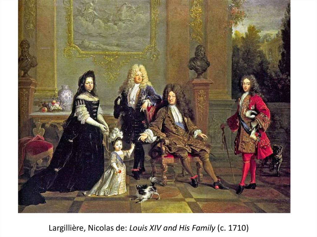 Largillière, Nicolas de: Louis XIV and His Family (c. 1710)