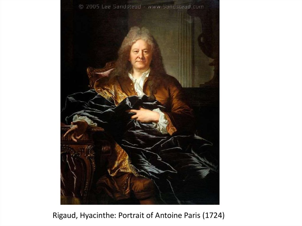 Rigaud, Hyacinthe: Portrait of Antoine Paris (1724)
