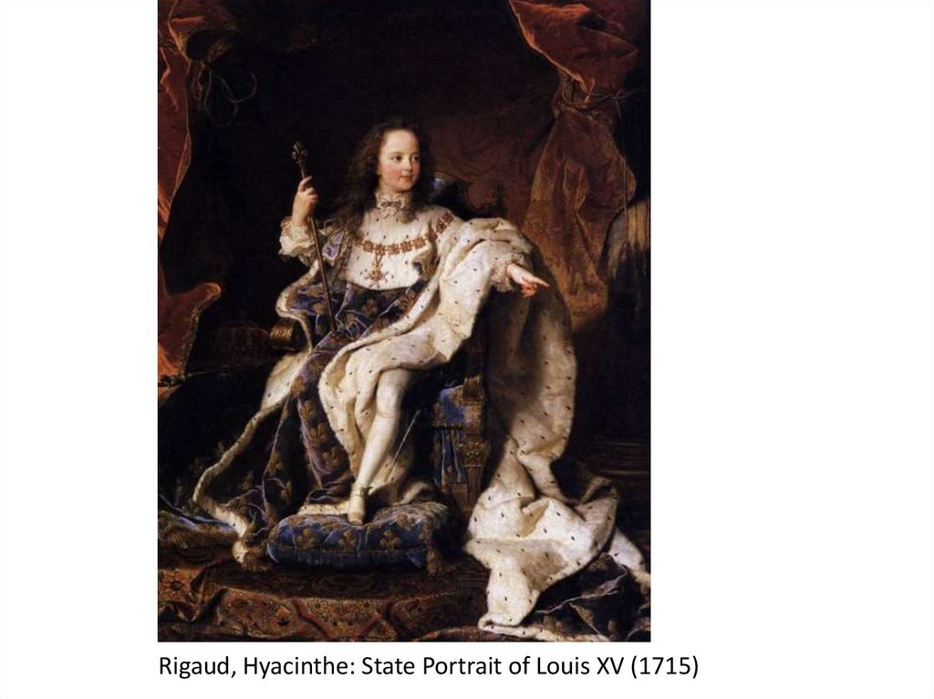 Rigaud, Hyacinthe: State Portrait of Louis XV (1715)