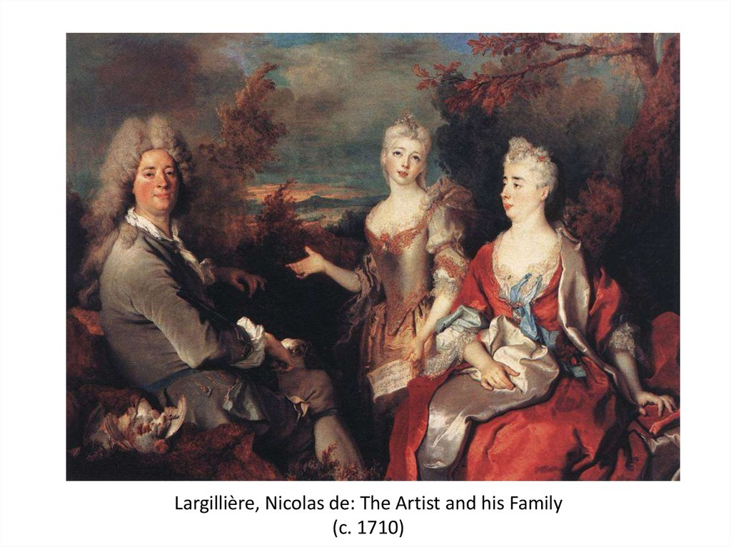 Largillière, Nicolas de: The Artist and his Family (c. 1710)