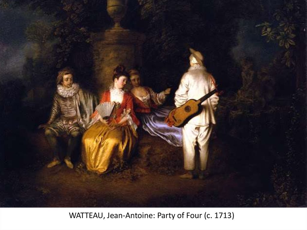 WATTEAU, Jean-Antoine: Party of Four (c. 1713)