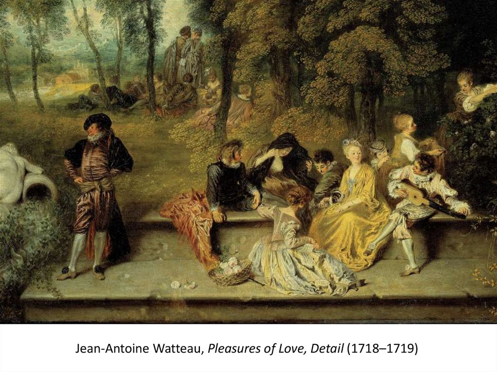 Jean-Antoine Watteau, Pleasures of Love, Detail (1718–1719)
