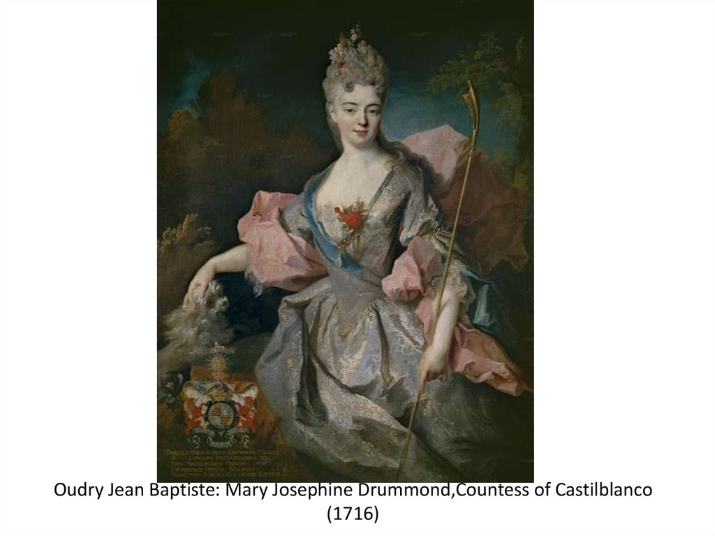 Oudry Jean Baptiste: Mary Josephine Drummond,Countess of Castilblanco (1716)