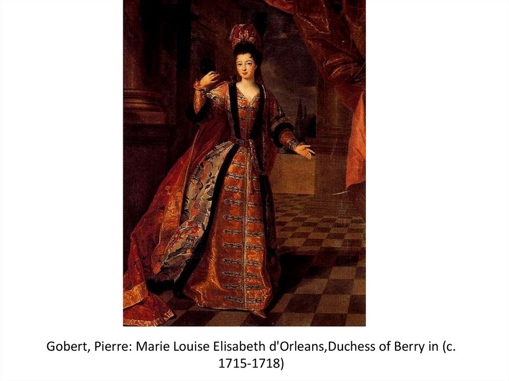 Gobert, Pierre: Marie Louise Elisabeth d'Orleans,Duchess of Berry in (c. 1715-1718)