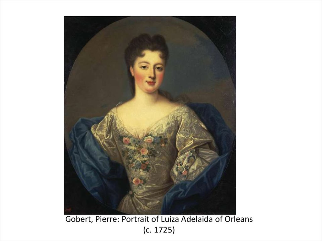 Gobert, Pierre: Portrait of Luiza Adelaida of Orleans (c. 1725)