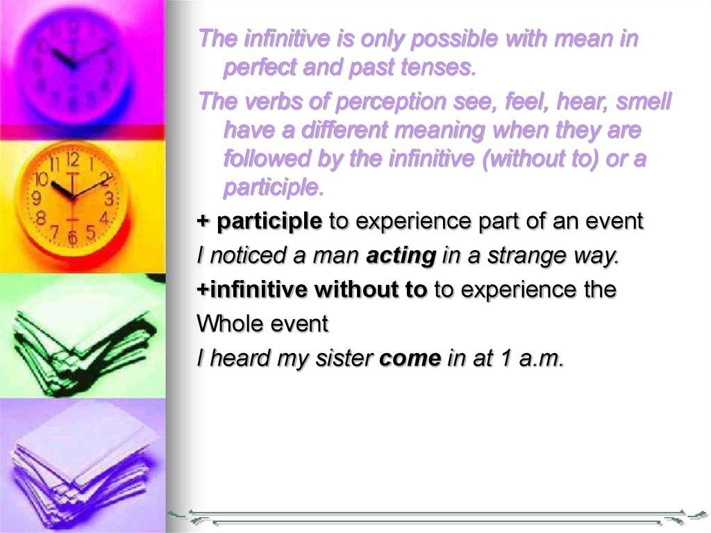 The Infinitive - online presentation