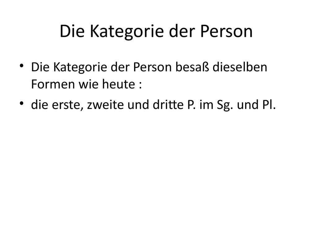 Die Kategorie der Person