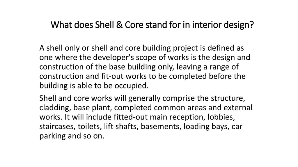 Stand for in interior design