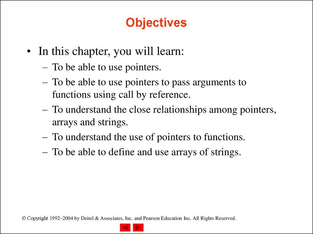Chapter 7 - C Pointers - online presentation