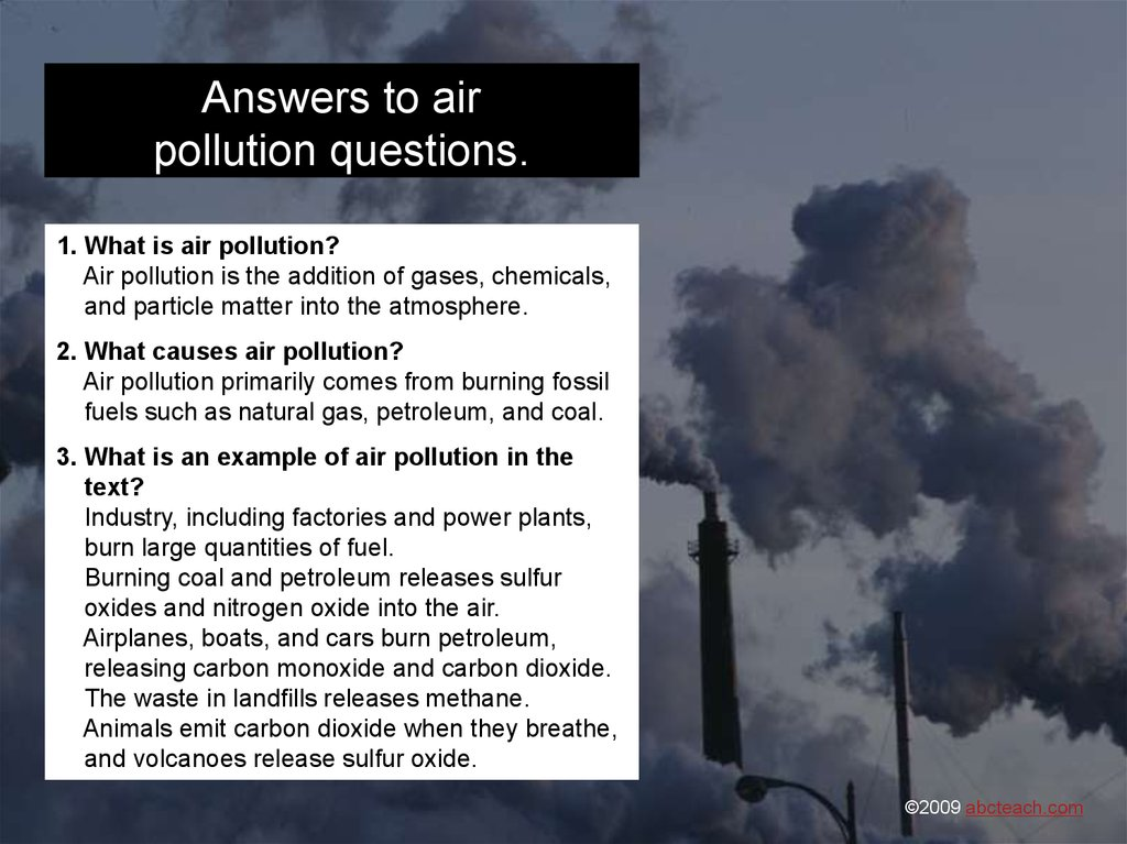 Air Pollution: The Dirty Truth - online presentation