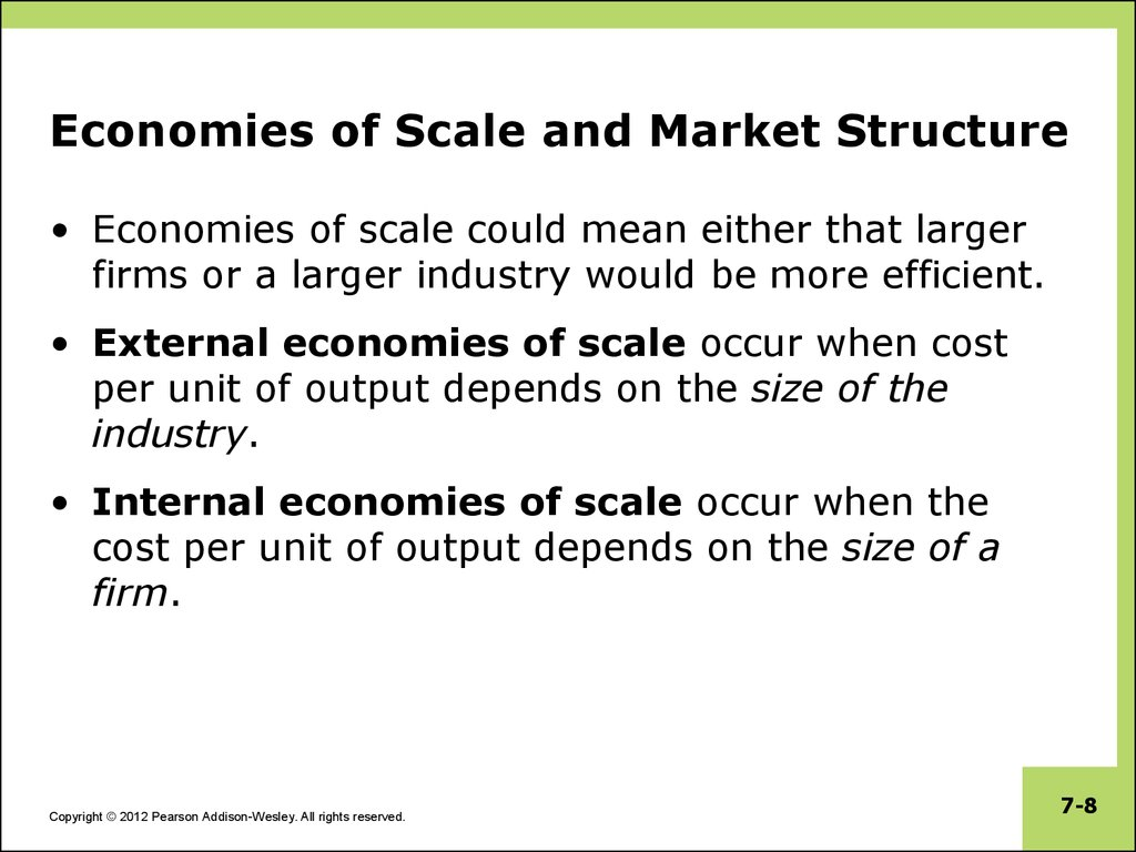 internal economies of large scale production