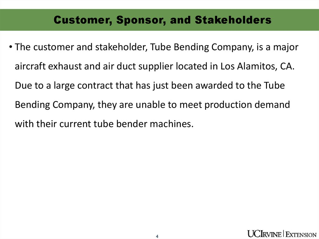 Customer, Sponsor, and Stakeholders