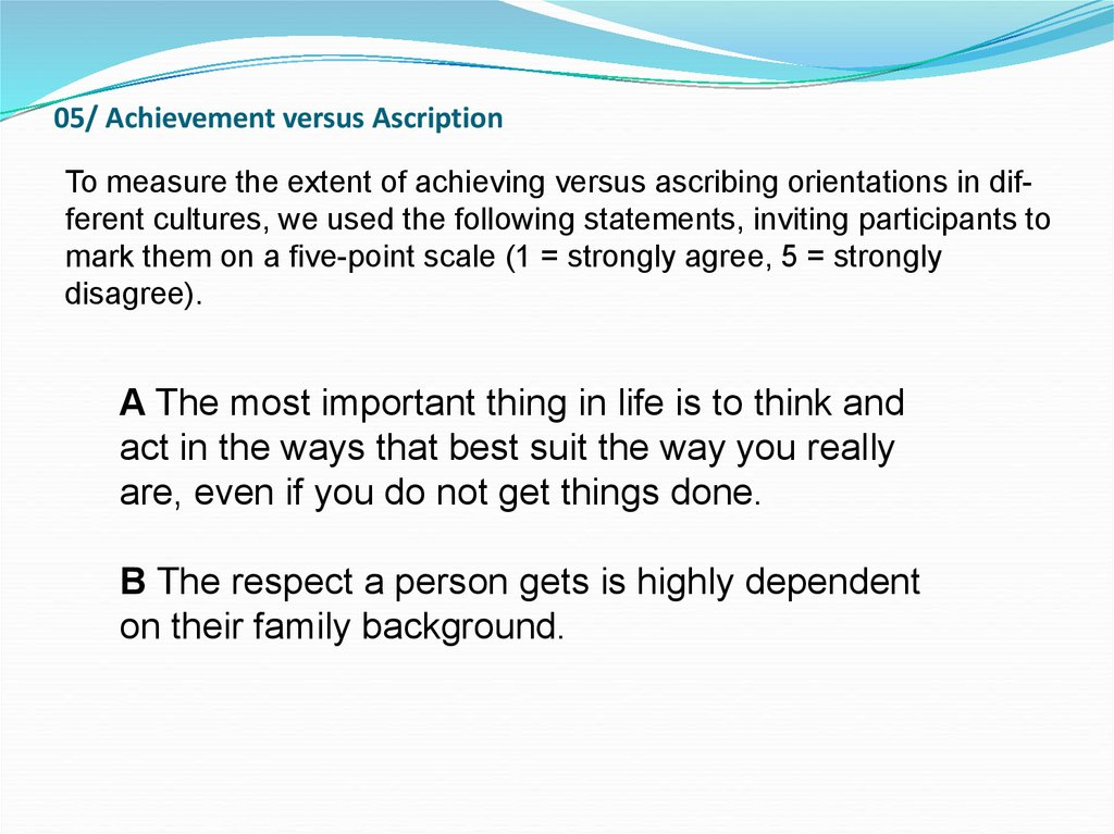 05/ Achievement versus Ascription