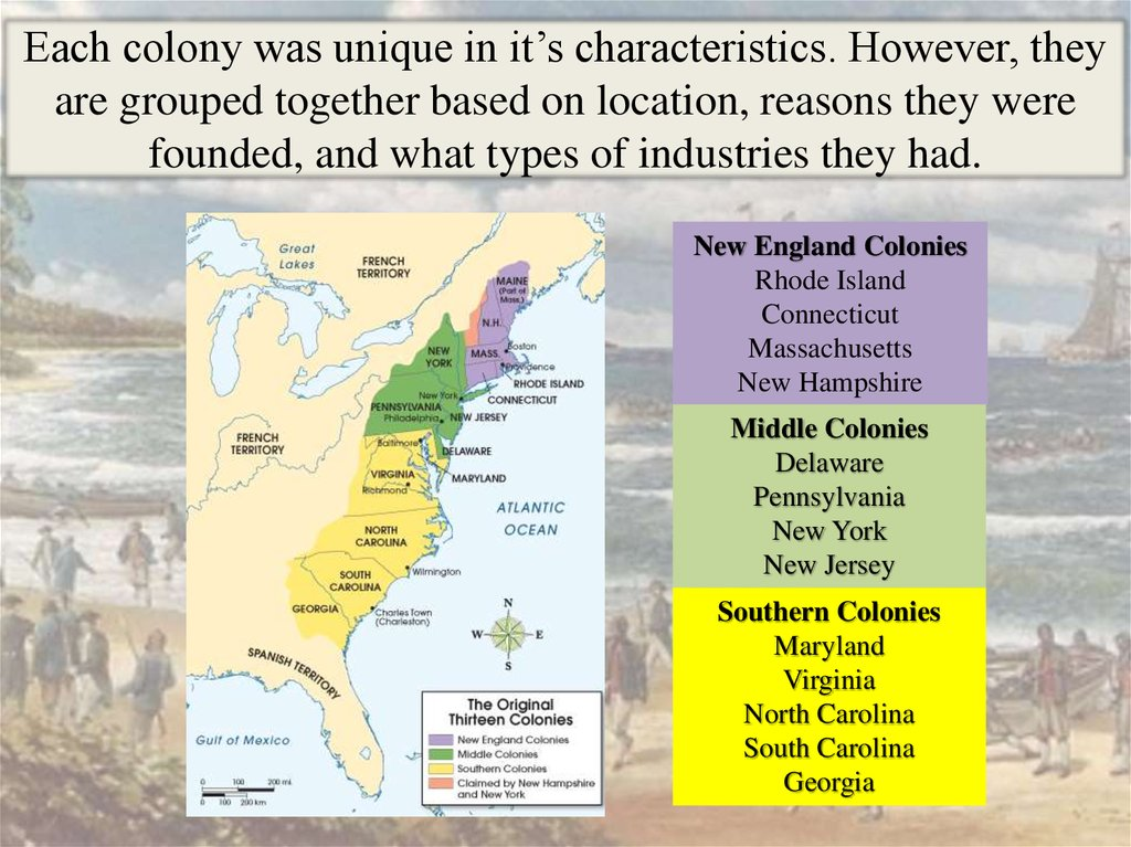 Southern Colonies Between 1607 and 1775