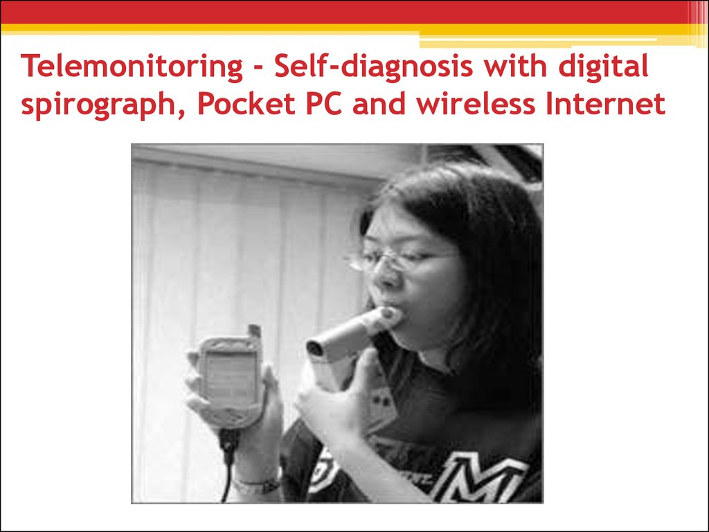 Telemonitoring - Self-diagnosis with digital spirograph, Pocket PC and wireless Internet