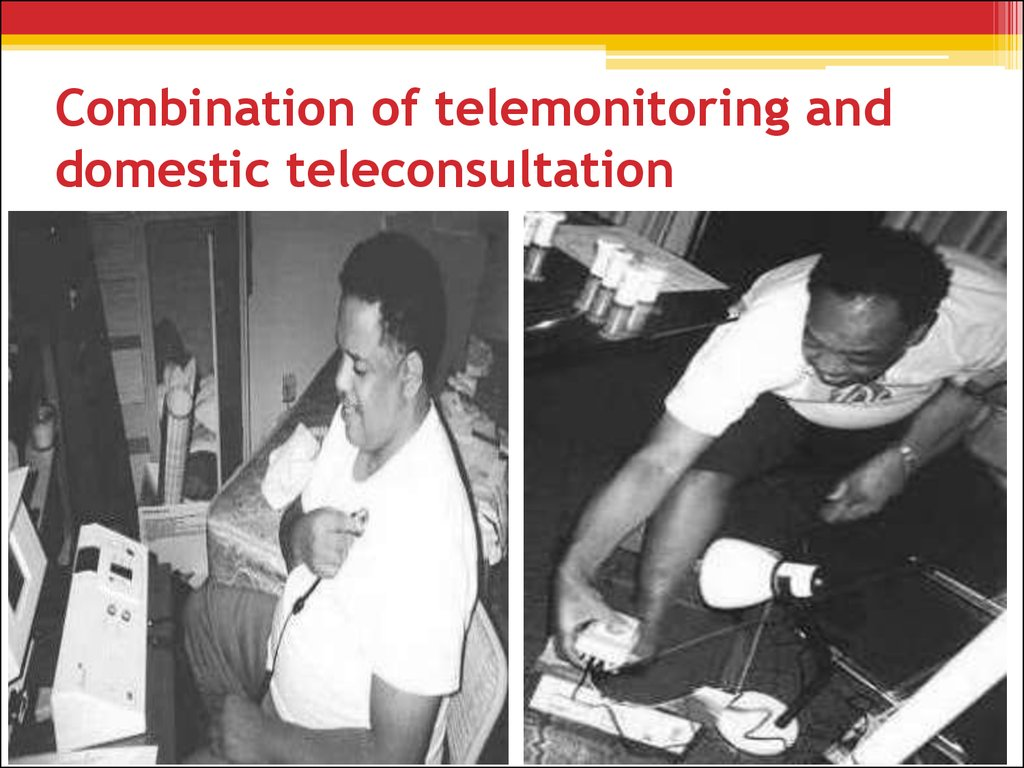 Combination of telemonitoring and domestic teleconsultation