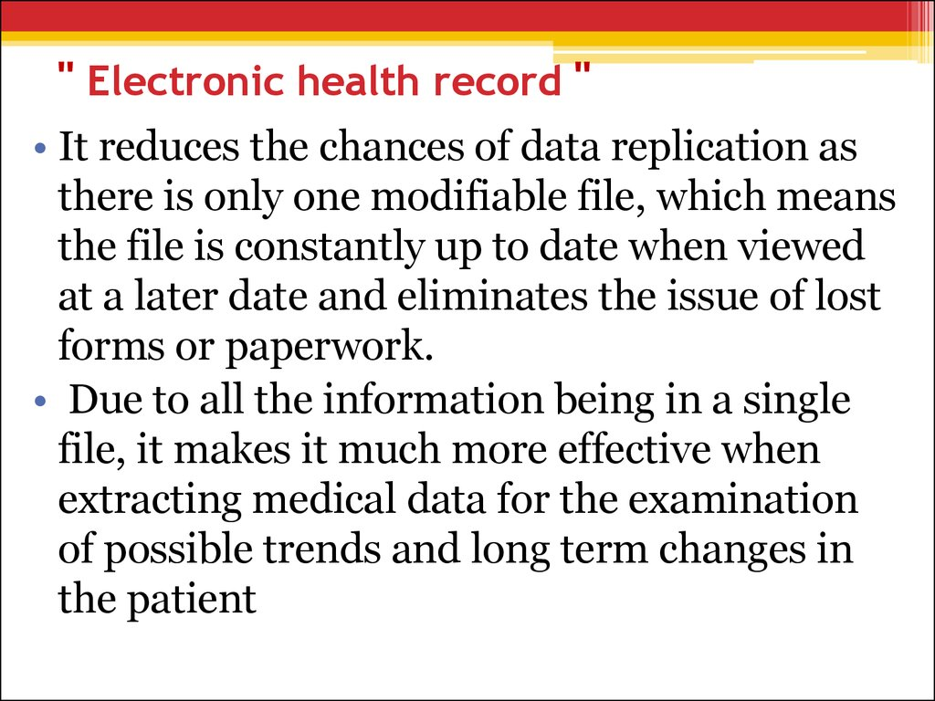 """ Electronic health record """