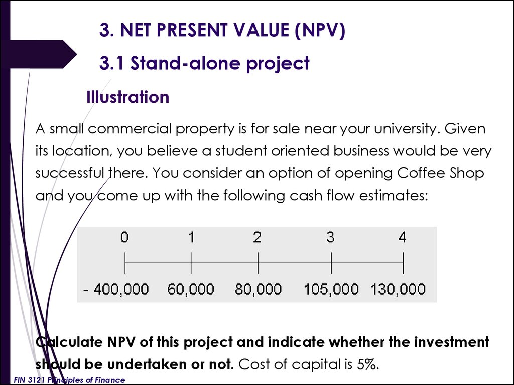 finance net present value and options What is net present value there are generally three options available: as knight writes in his book, financial intelligence.