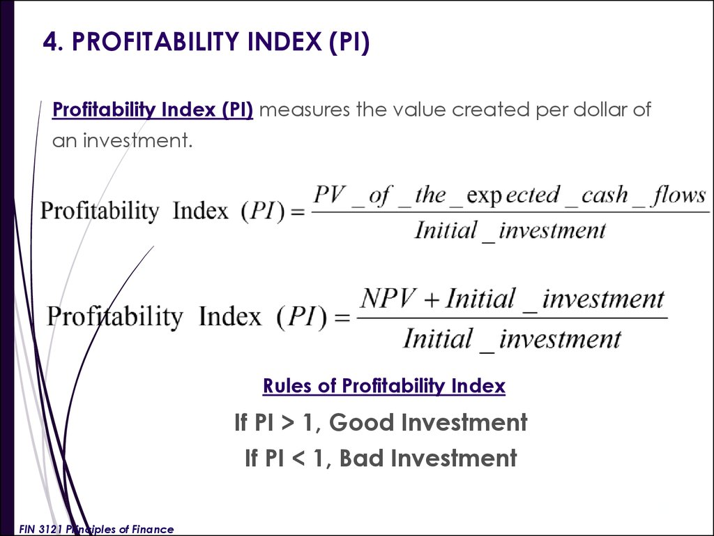 What is the index of profitability How to calculate it 65