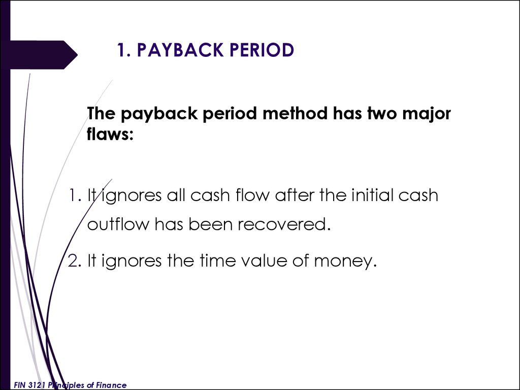 1. PAYBACK PERIOD
