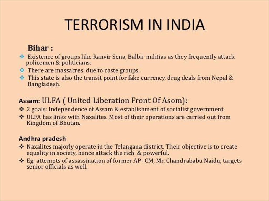 what is terrorism Before the terrorist attacks in the united states on 11 september 2001, the subject of terrorism did not loom large in philosophical discussion philosophical literature in english amounted to a few monographs and a single collection of papers devoted solely, or largely, to questions to do with terrorism.
