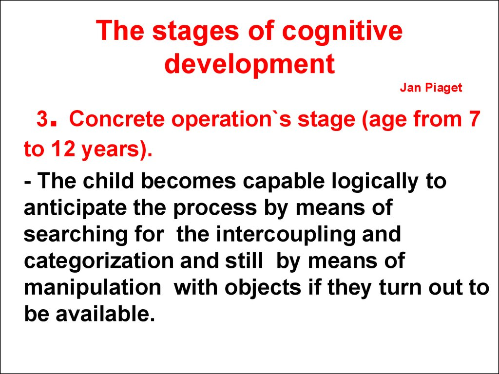 a study on how a child in their concrete operational stage would respond to ruth benedicts and gene  A child who lives in a slum in kenya is far more likely to die before the age of five than is his or her compatriot in another part of city or in rural kenya 1, 2 one notable study reported that the life expectancy of black men in harlem, an area of concentrated disadvantage in new york city, was lower than that among men in bangladesh 3, 4.