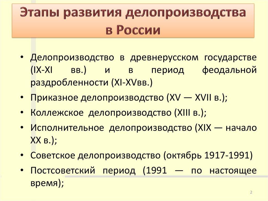 Доклад история развития делопроизводства 4947