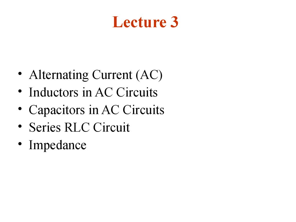 Alternating Current Lecture 3 Online Presentation Circuits Dc Or Direct And Ac In A 2