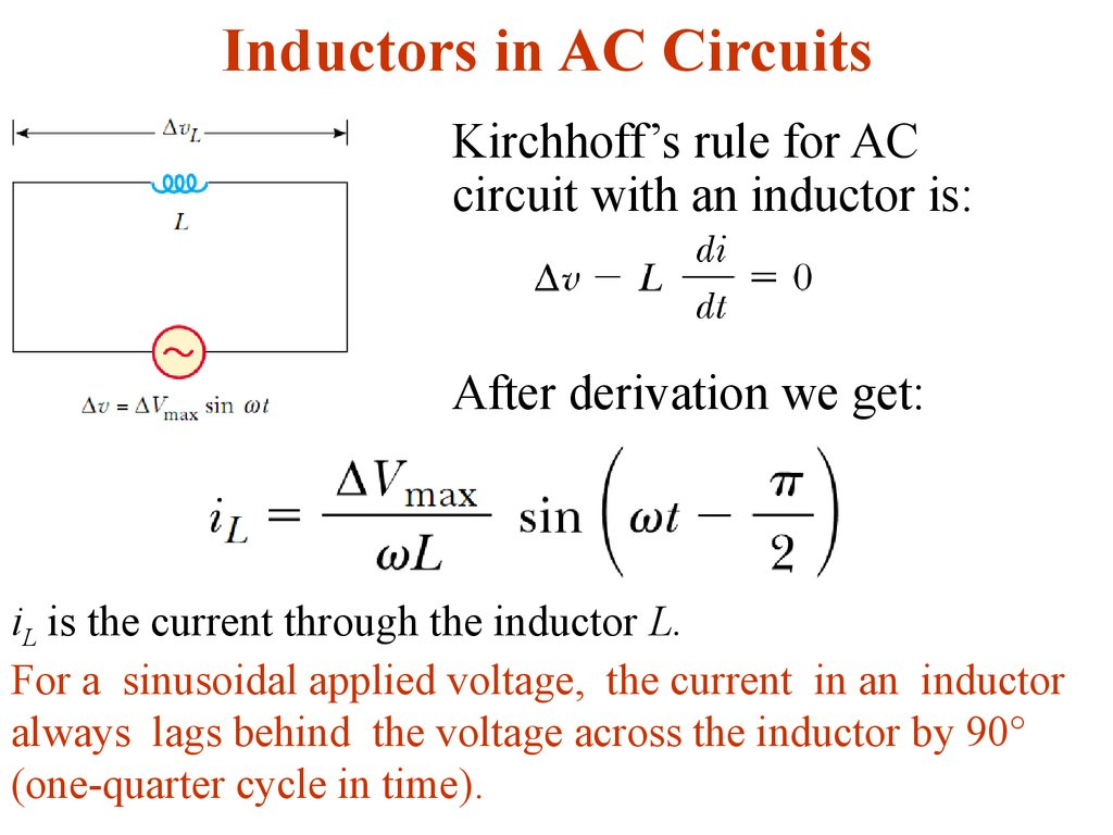 Alternating Current Lecture 3 Online Presentation Ac Circuit For Dummies Inductors In Circuits