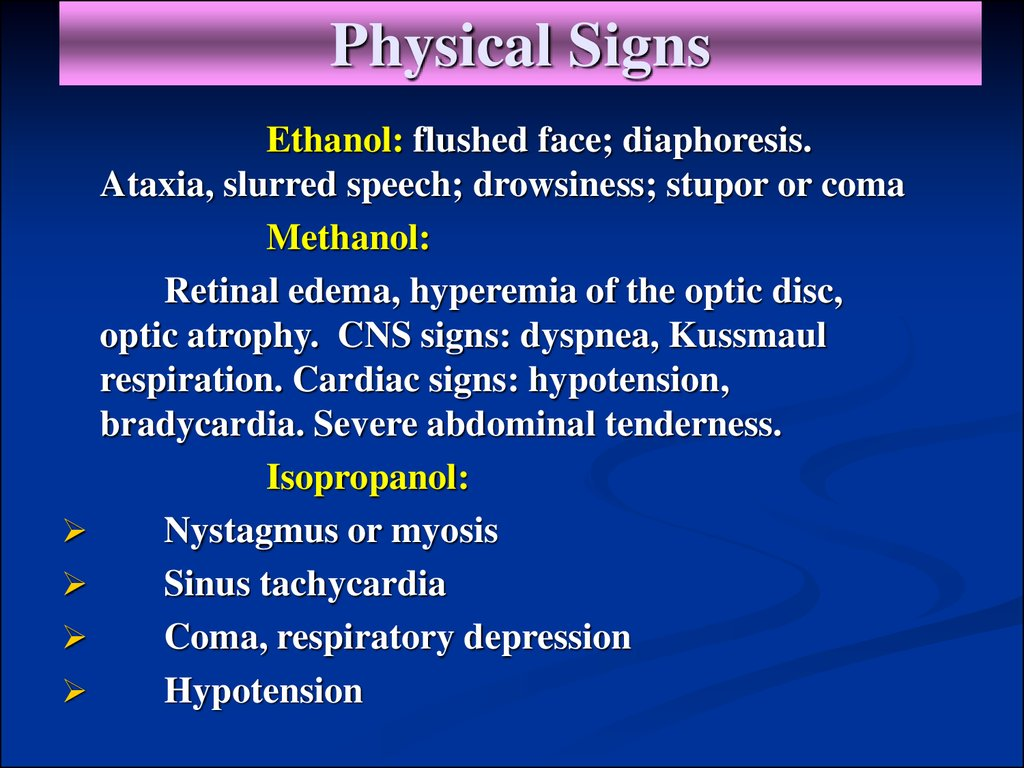 Physical Signs