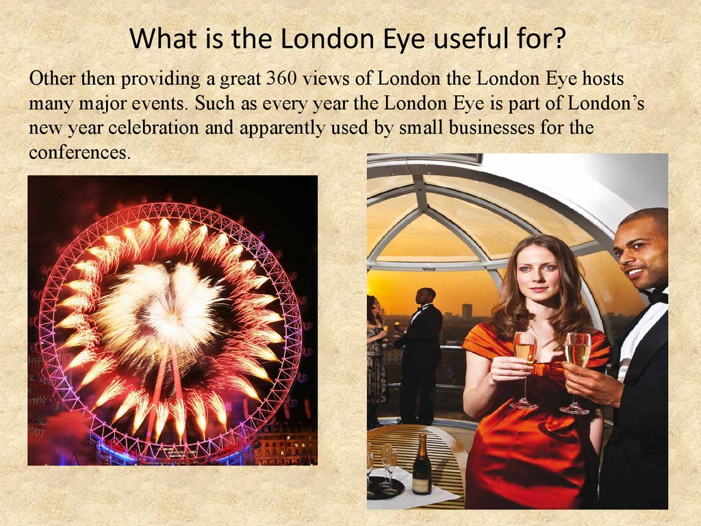 What is the London Eye useful for?