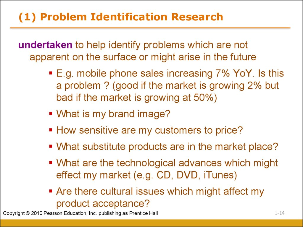 (1) Problem Identification Research