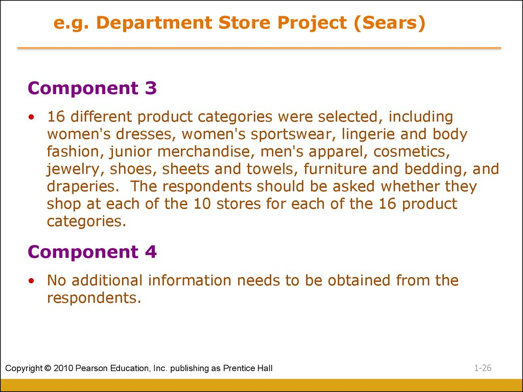 e.g. Department Store Project (Sears)